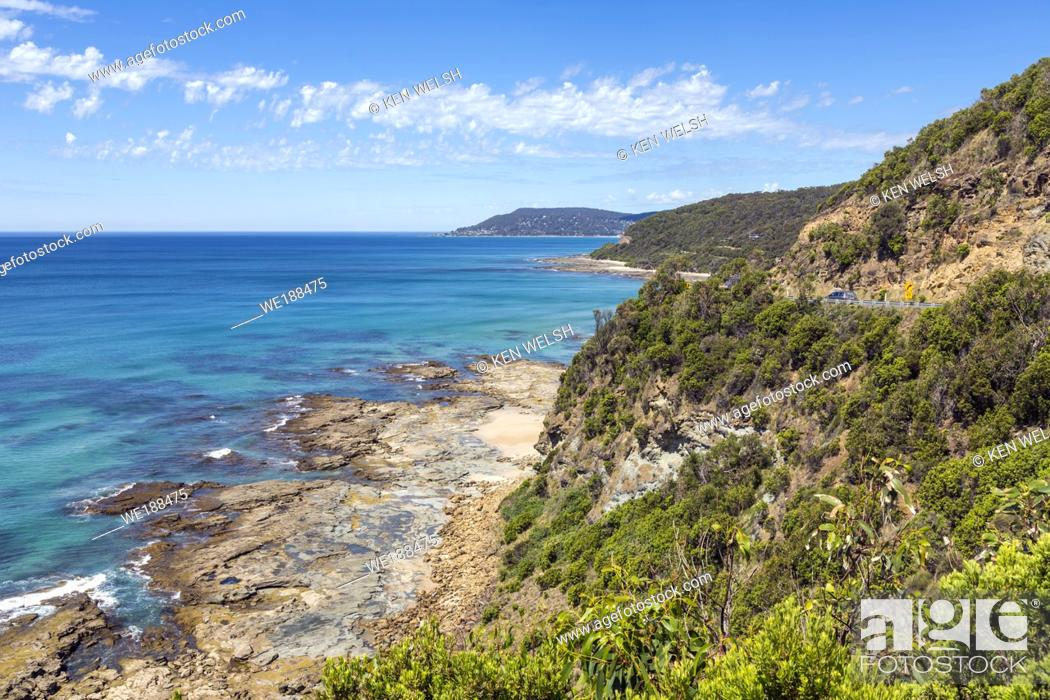 Imagen: View towards Lorne from Big Hill on the Great Ocean Road, VIctoria, Australia.