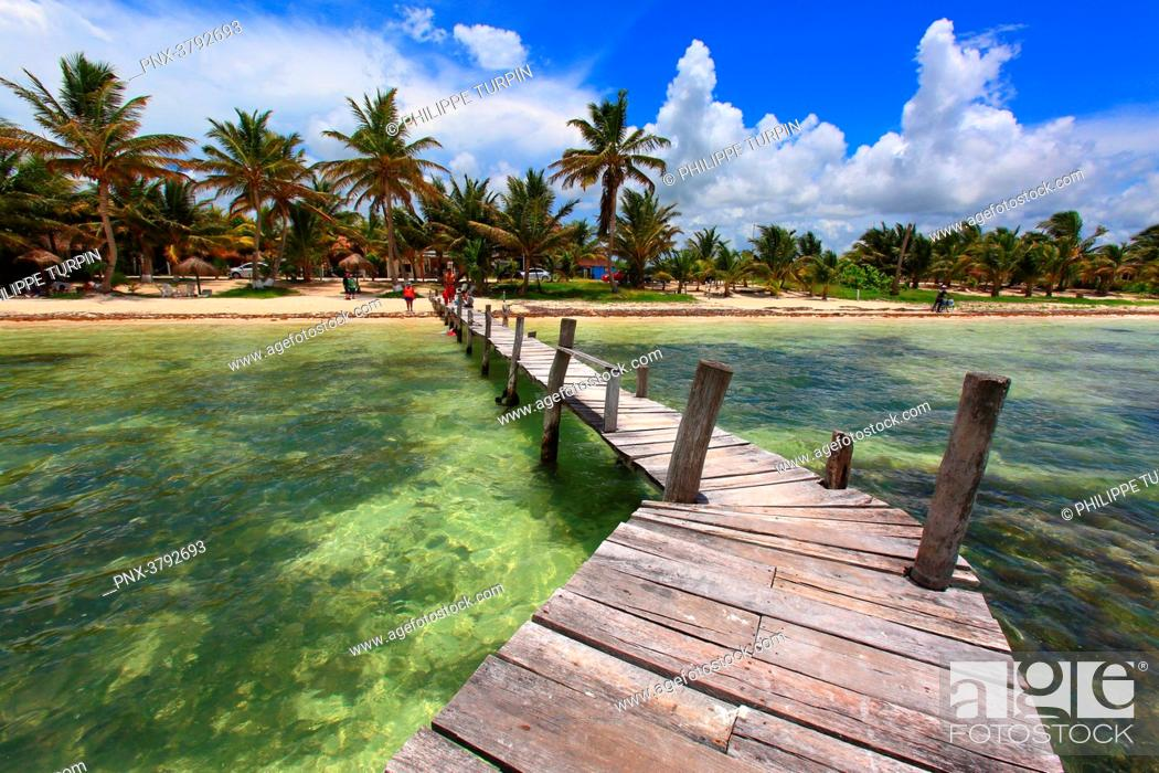 Mexico Quintana Roo Costa Maya Mahahual Beach Stock Photo Picture And Royalty Free Image Pic Pnx 3792693 Agefotostock