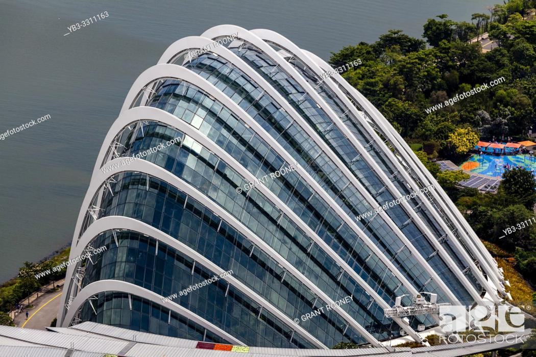 Stock Photo: The Cloud Forest Exterior At The Gardens By The Bay Nature Park, Singapore, South East Asia.