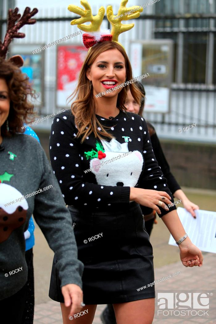 Stock Photo: Ferne McCann on the south bank outside ITV Studios Featuring: Ferne McCann Where: London, United Kingdom When: 18 Dec 2015 Credit: Rocky/WENN.com.
