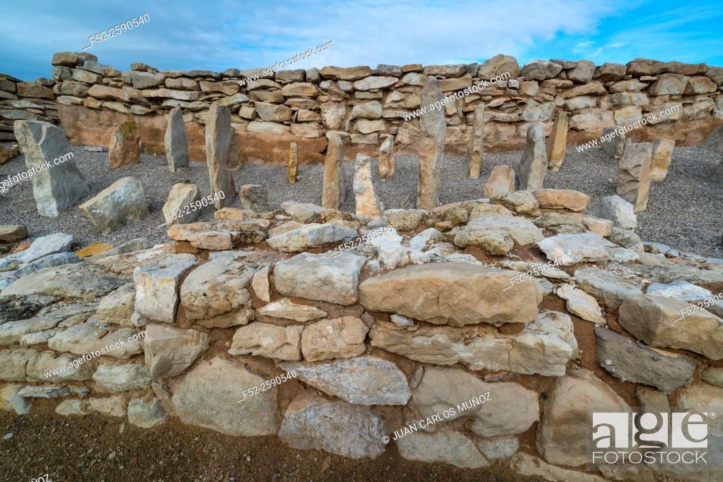 Stock Photo: Els Vilars Iberian settlement, Arbeca, Les Garrigues, Lleida, Catalunya, Spain.