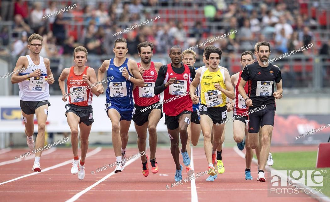 Stock Photo: left to right ABELE Lukas (Hanau-Rodenbach SSC), MENZEL Rene (Hanover Athletics), HEINRICH Marvin (Wiesbadener LV), KUK Viktor (LG Braunschweig), Homiyu TESFAYE.