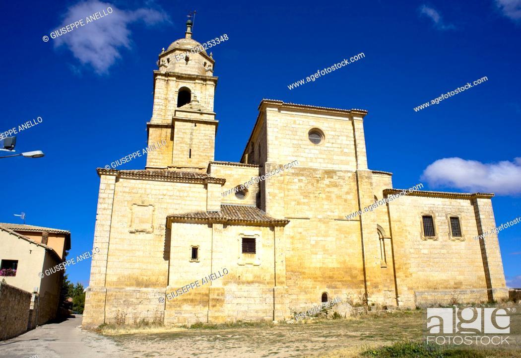 Stock Photo: Colegiata de Nuestra Señora del Manzano, Castrojeriz - Spain.