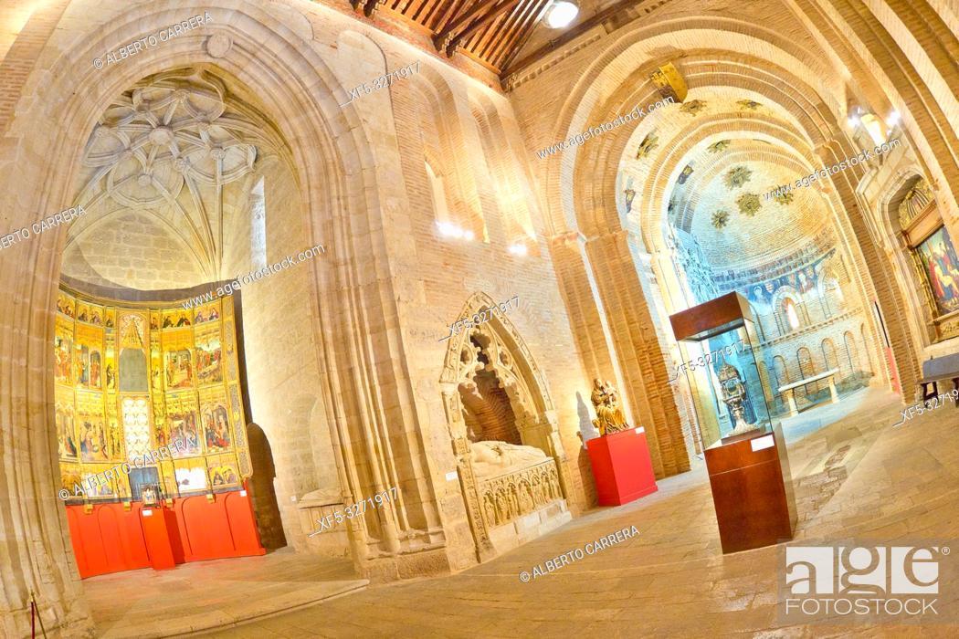 Stock Photo: San Lorenzo el Real Curch, Mudejar-Romanesque Style, Old Town, Toro, Zamora, Castilla y León, Spain, Europe.