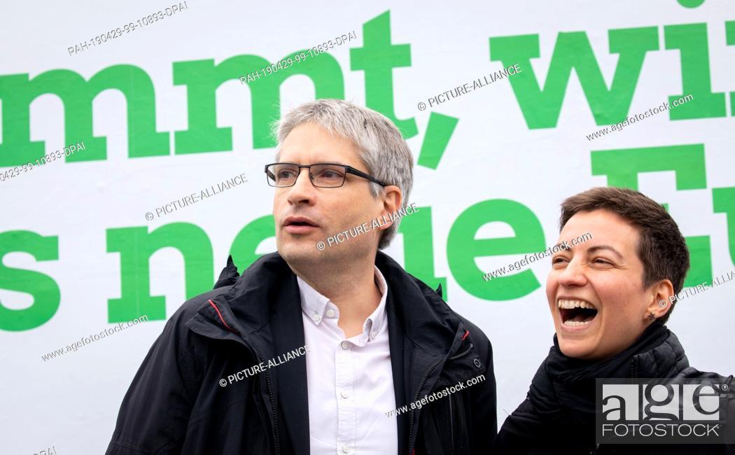 Imagen: 29 April 2019, Berlin: Ska Keller and Sven Giegold, the top candidates of Bündnis90/Die Grünen for the European elections.