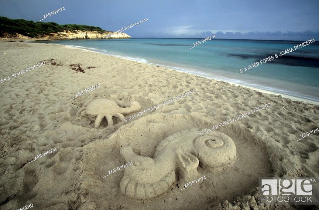 Stock Photo: Cala Galdana, Menorca, Islas Baleares, Spain.