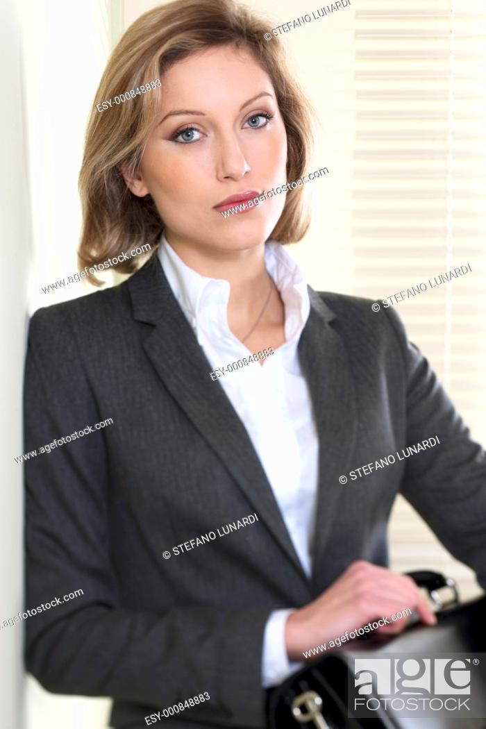 Stock Photo: Portrait of a Resolute/Motivated businesswoman.
