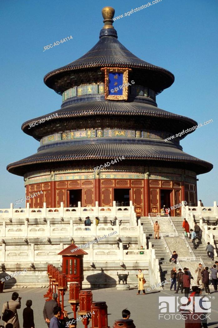 Stock Photo: Temple of Heaven in Forbidden City Peking China emperor palace.