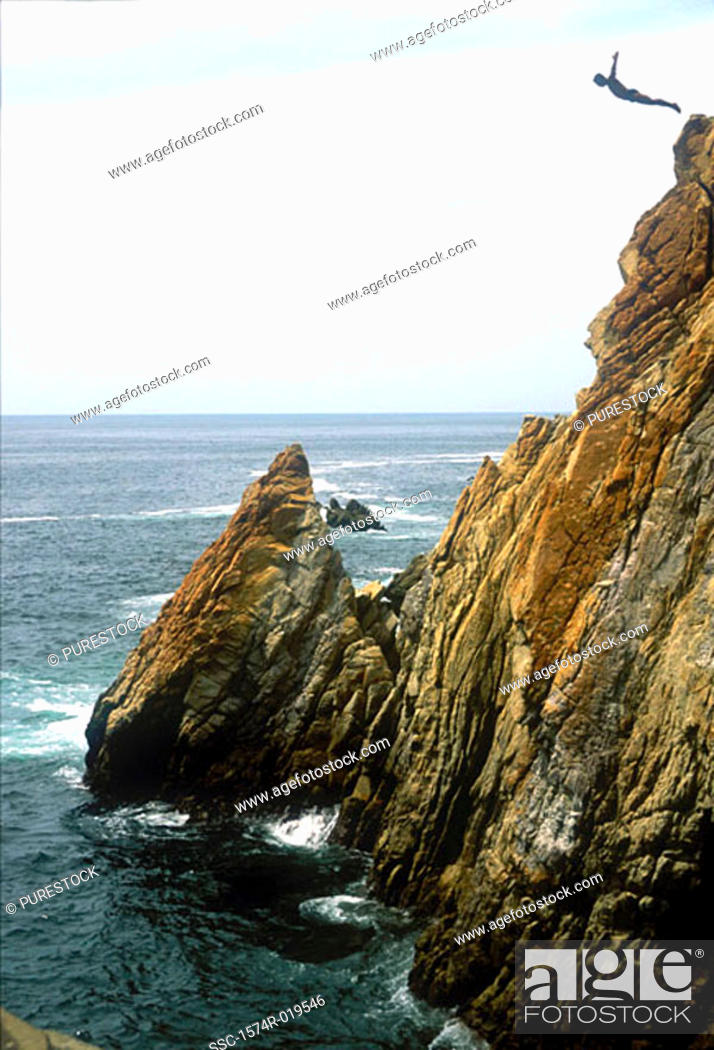 Stock Photo: La Quebrada Acapulco Mexico.