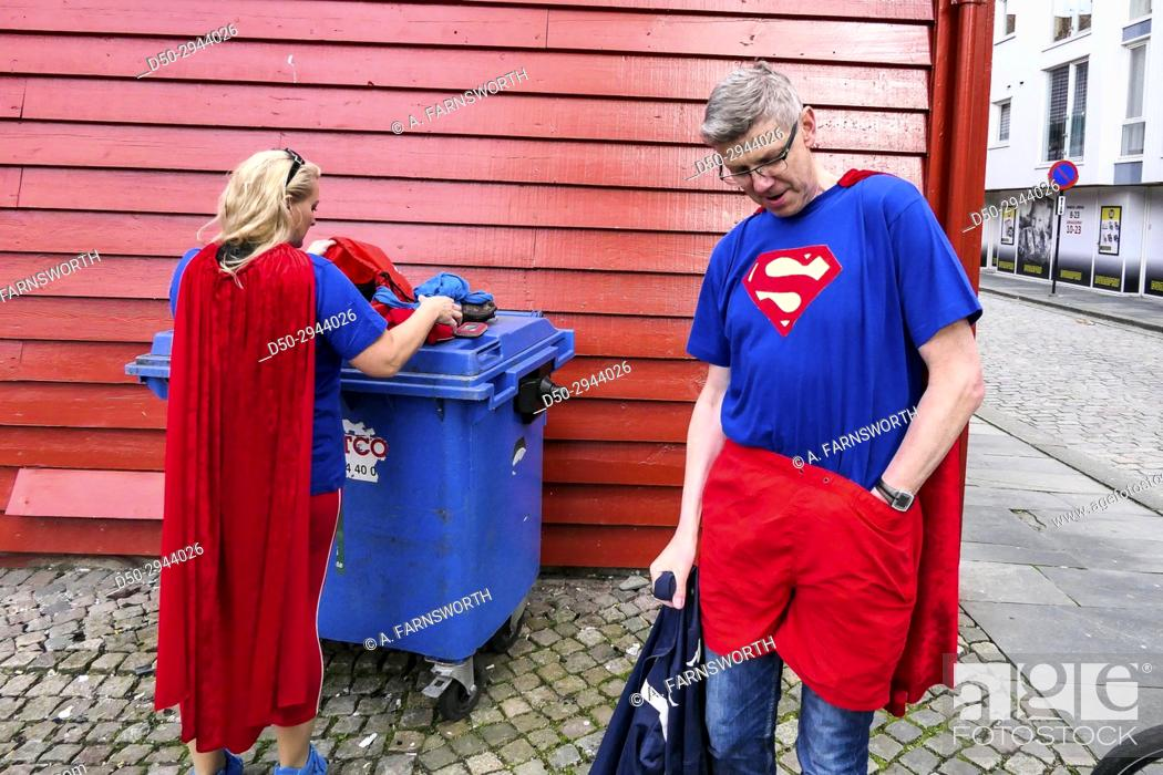 Stock Photo: STAVANGER, NORWAY Local doctors on an annual conference gets dressed up.