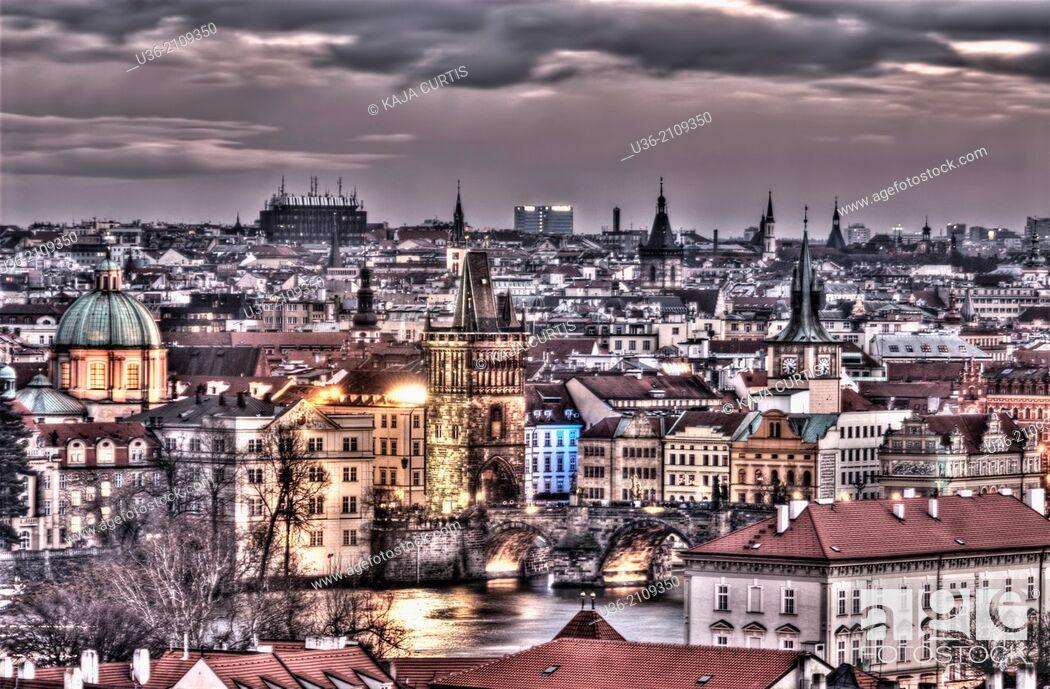 Stock Photo: View of Prague Czech Republic.