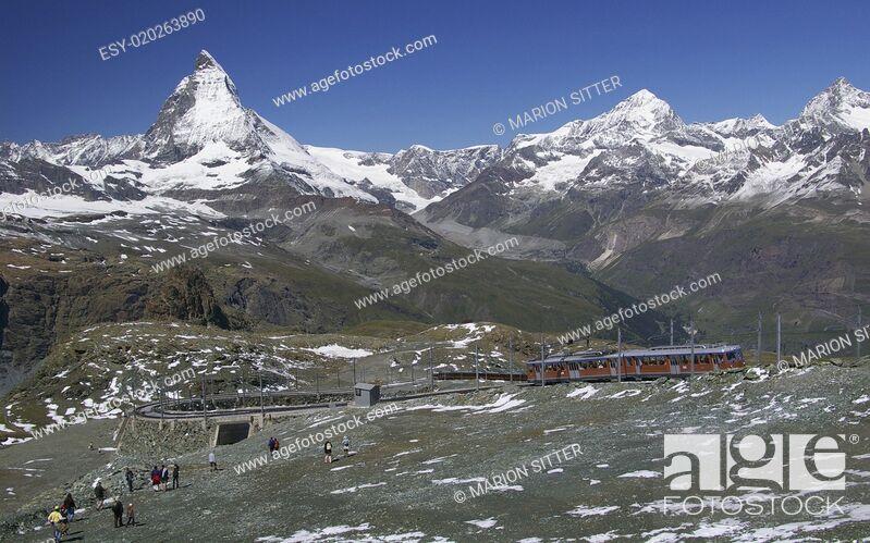 Stock Photo: Matterhorn - Gornergratbahn.