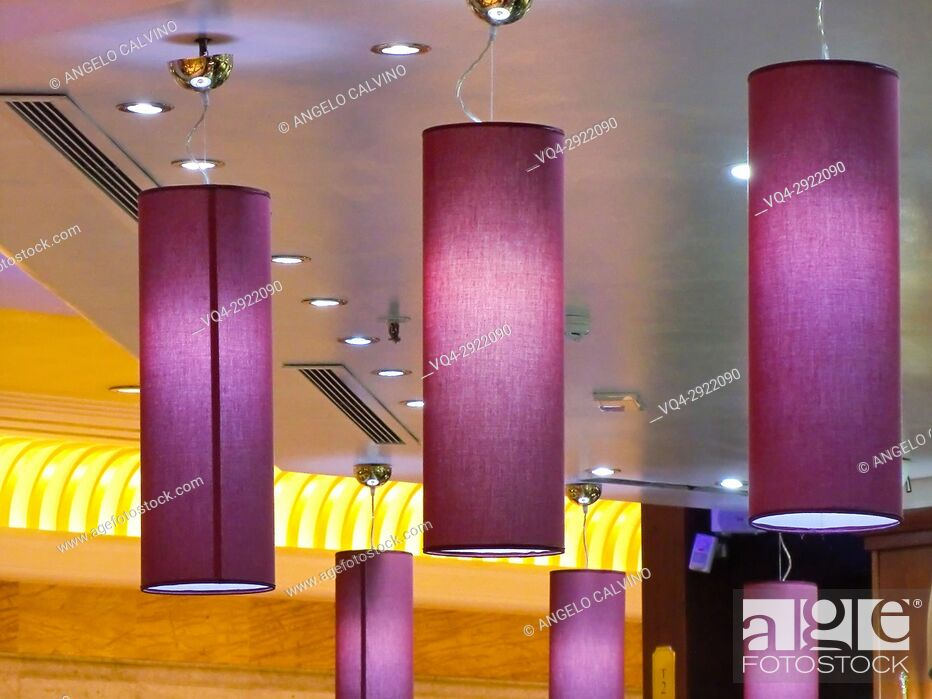 Stock Photo: Details of lightings in EUROMA2 Shopping Mall, Rome, Lazio, Italy.
