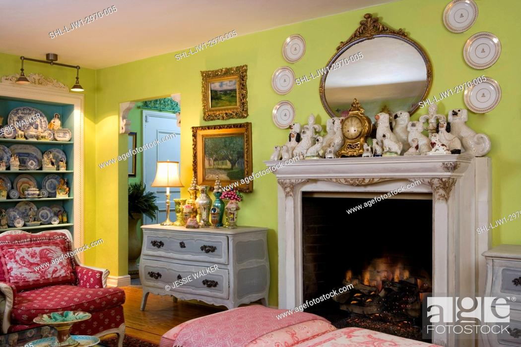 Stock Photo Living Rooms Bright Green Walls With Raspberry Accent Colors Collection