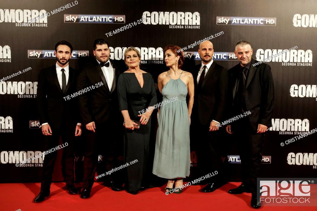 The cast Marco Palvetti, Salvatore Esposito, Cristina Donadio ...
