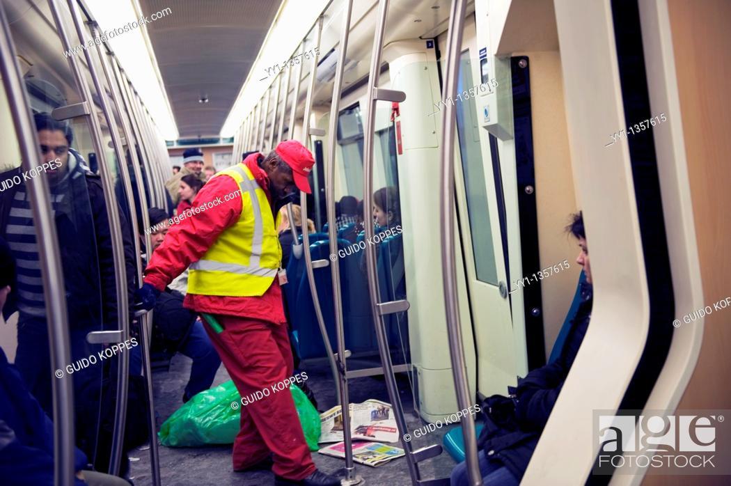 Rotterdam, Netherlands  Middle aged subway employee