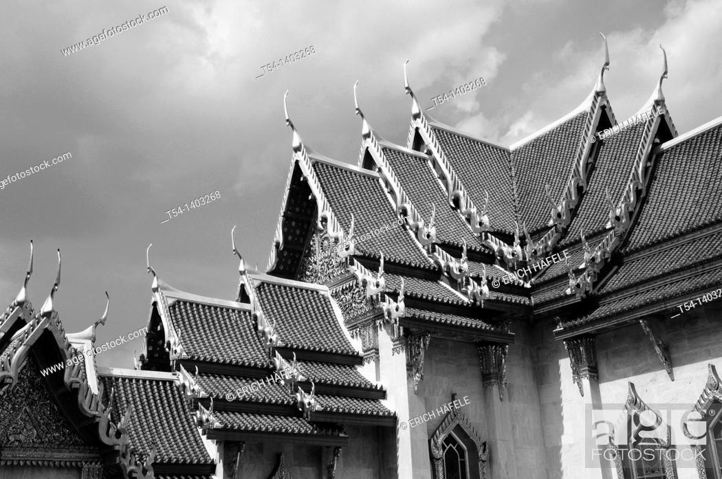 Stock Photo: Artfull Rooftop from Wat Bencha.