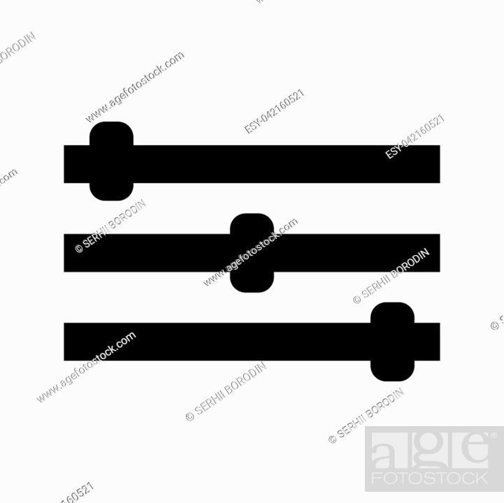 Vector: Control panel it is black color icon .
