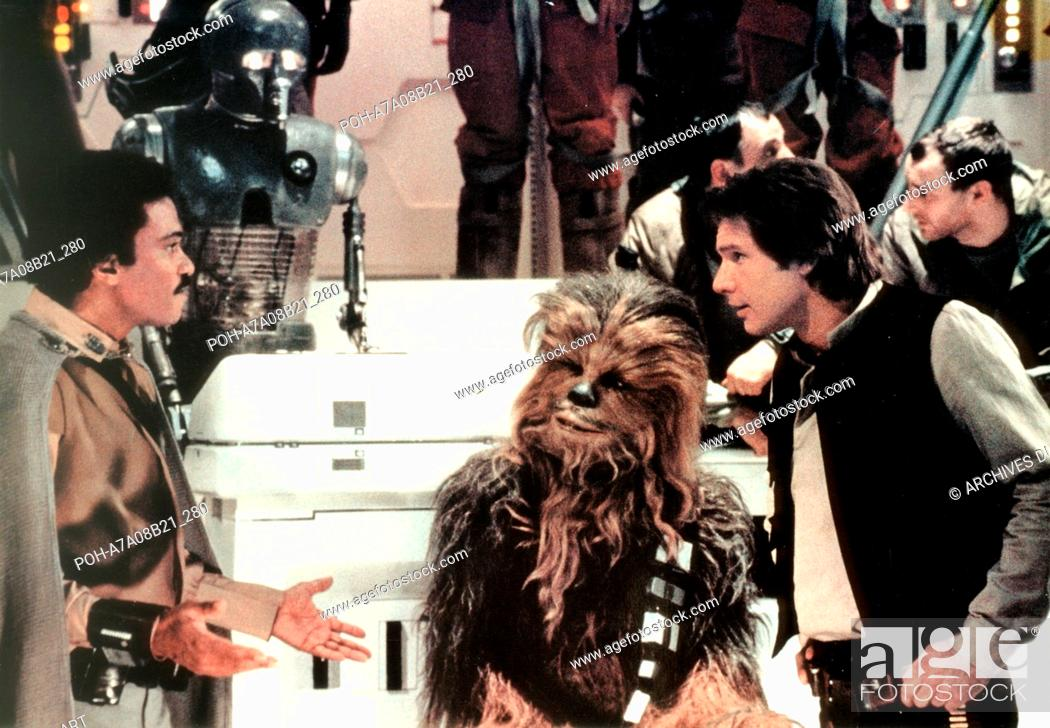 Stock Photo: Star Wars: Episode VI - Return of the Jedi  Year : 1983 USA Billy Dee Williams, Harrison Ford, Peter Mayhew  Director: Richard Marquand.