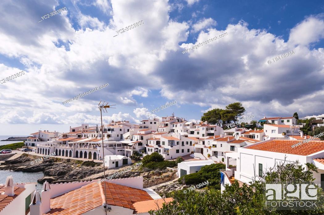 Stock Photo: The small village of Biniancolla-Punta Prima , Menorca , Balearic Islands , Spain.