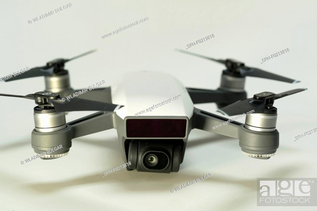 Stock Photo: Quadcopter drone.