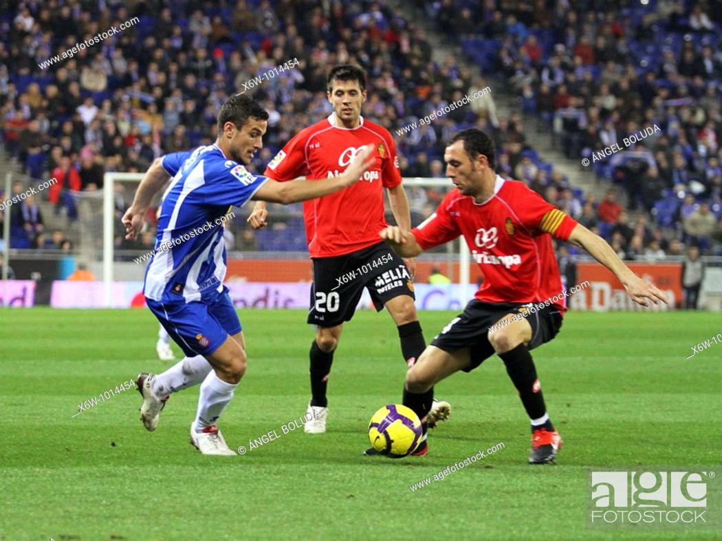 Stock Photo: Cornellá-El Prat Stadium, 24/01/2009, Spanish League, RCD Espanyol vs. Real Mallorca.