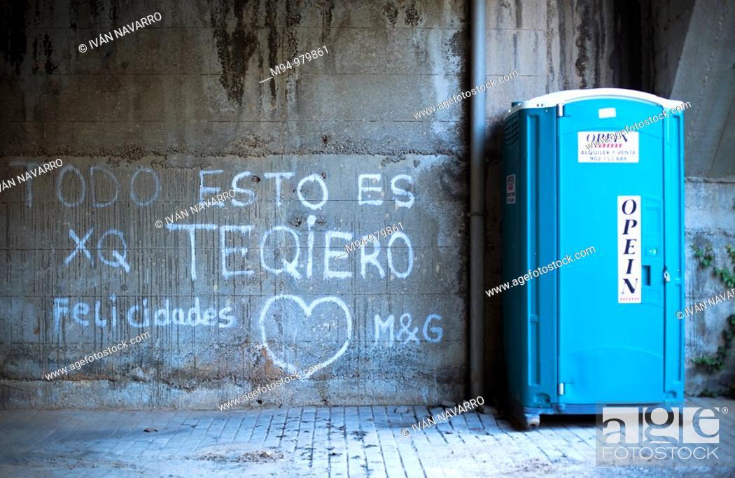 Stock Photo: Love graffitti.