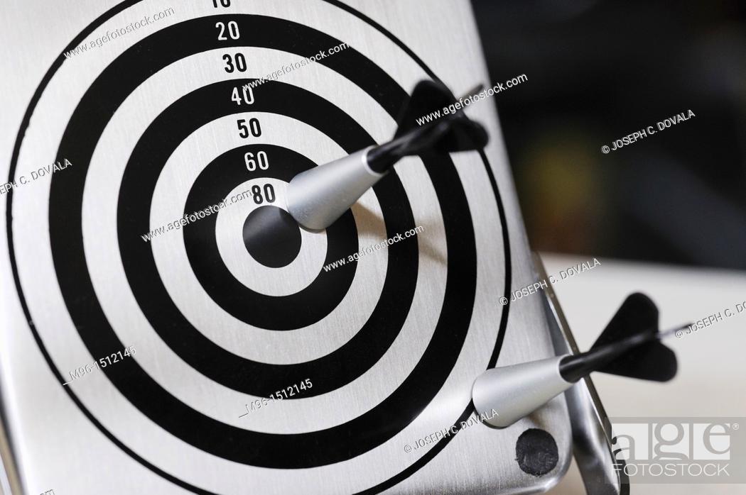 Stock Photo: Small magnetic dart set.