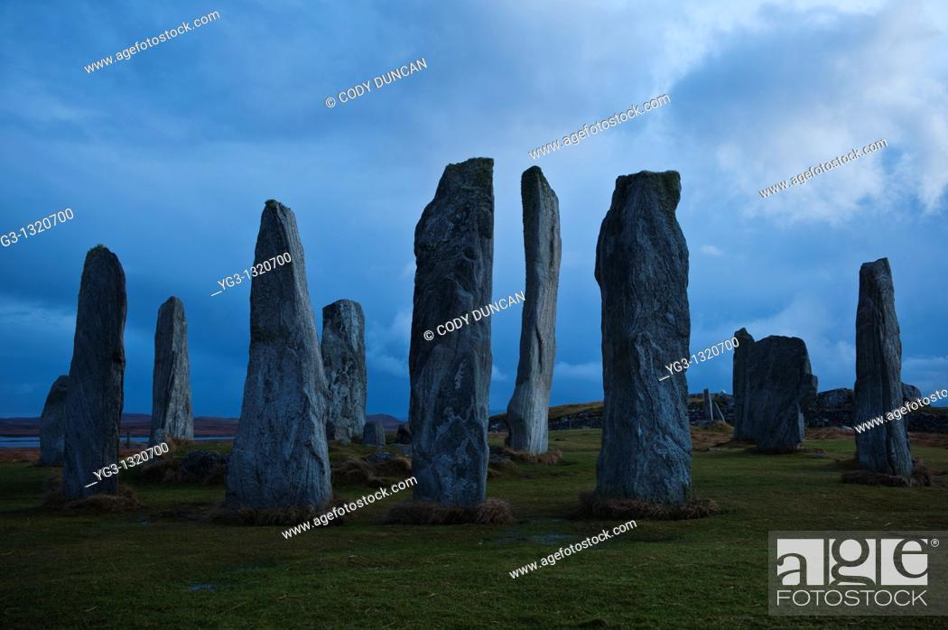 Stock Photo: Callanish Standing Stones, Isle of Lewis, Western Isles, Scotland.