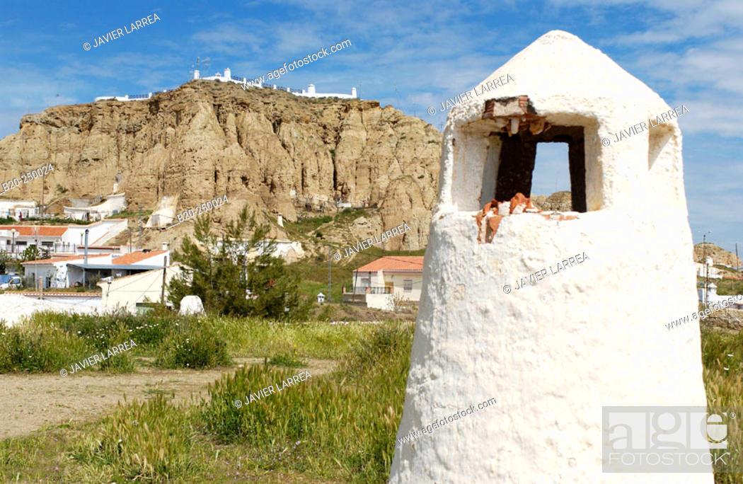 Stock Photo: Santiago troglodyte quarter. Guadix. Granada province. Spain.