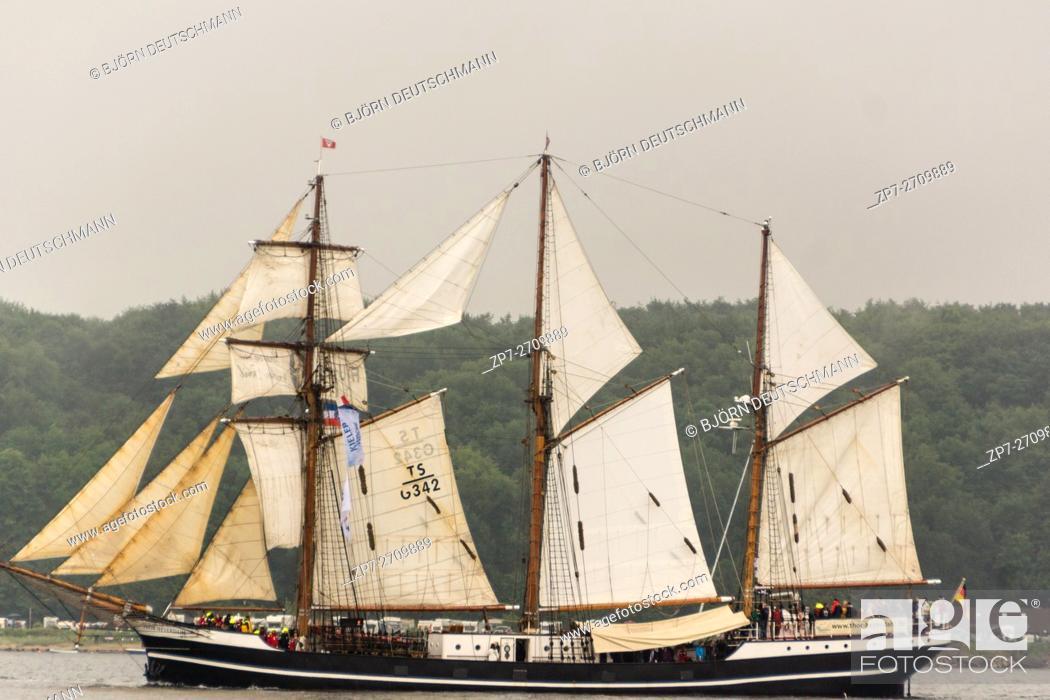 Stock Photo: Kiel, Germany - June 25th 2016: Impressions of the Tall Ship Parade during the Kiel Week 2016.