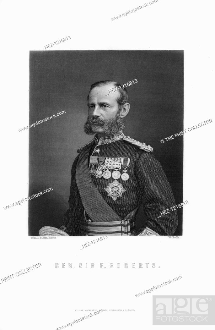 Stock Photo: General Sir Frederick Roberts, 1893. Sir Frederick, 1st Earl Roberts (1832-1914) was one of the foremost British military figures of Victorian times.