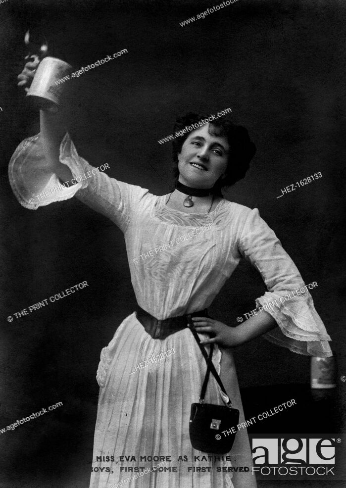 Stock Photo: Miss Eva Moore as Kathie, 'Boys, First Come, First Served', 1903.