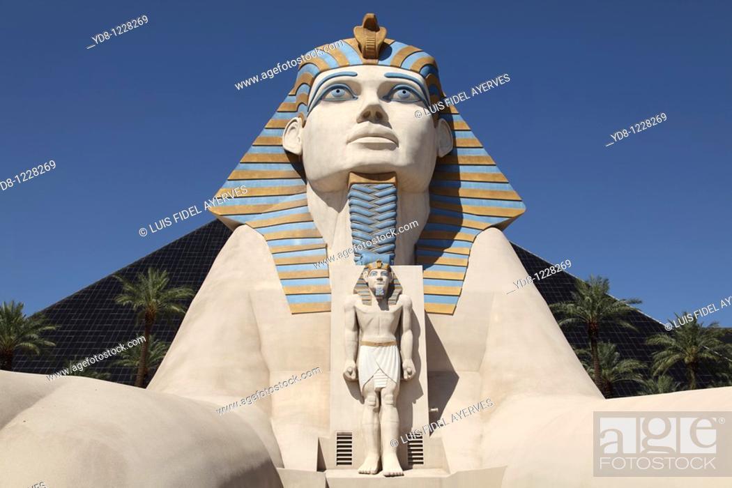 Stock Photo: Sphinx at Luxor Hotel, Las Vegas, Nevada, USA.