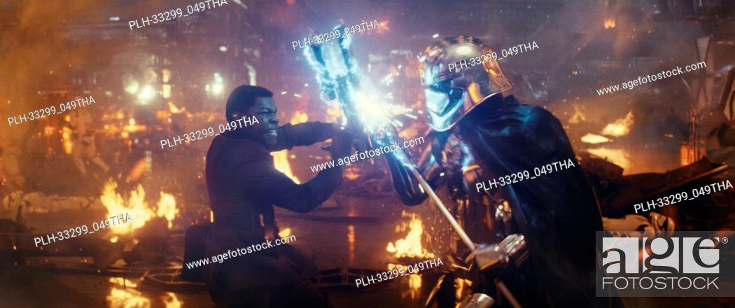 "Stock Photo: """"""Star Wars: The Last Jedi"""" (2017) L to R: Finn (John Boyega) battling Captain Phasma (Gwendoline Christie) Lucasfilm Ltd."