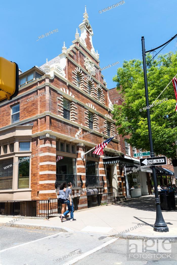 Stock Photo: Beautiful old building on Nassau -main street of Princeton, New Jersey, USA.
