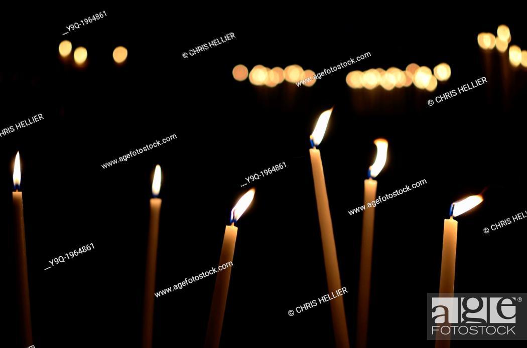Stock Photo: Candles Notre-Dame-de-la-Garde Basilca Marseille France.