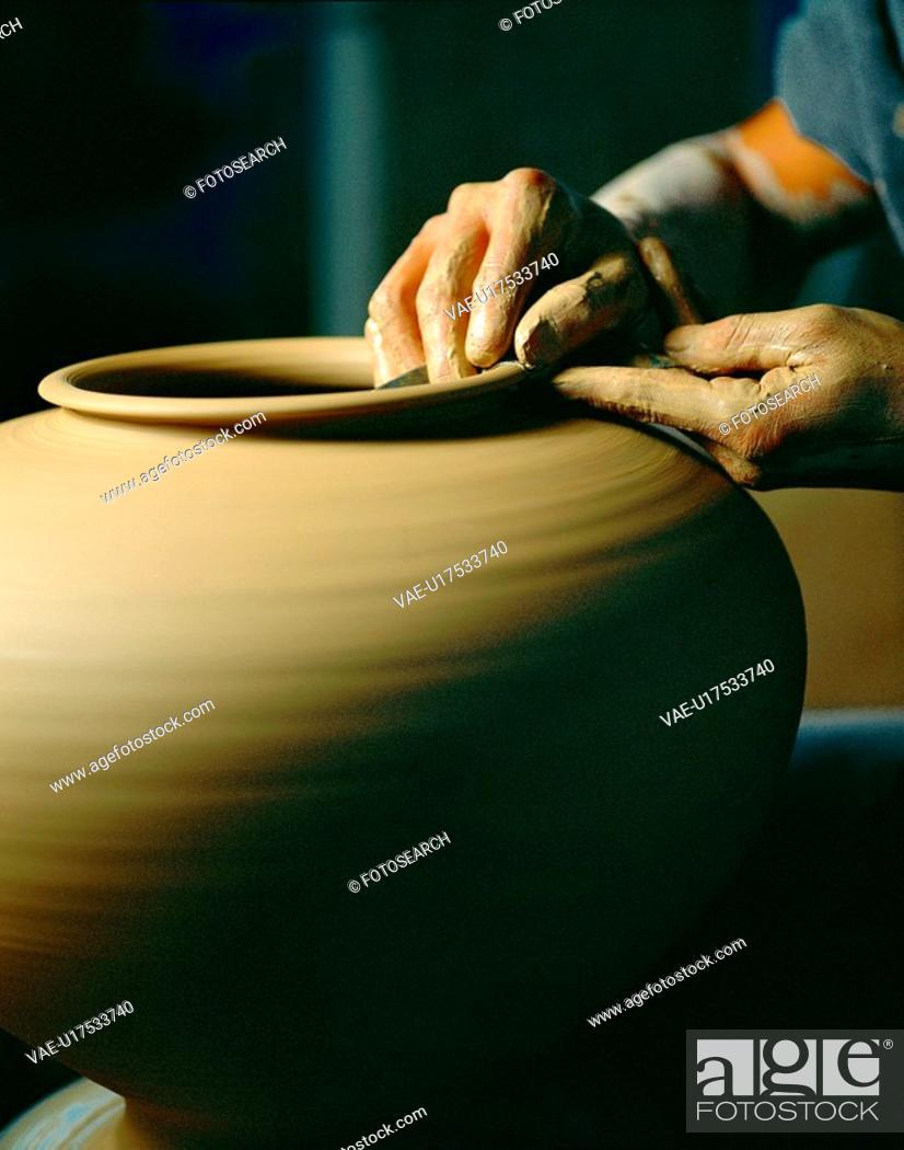 Stock Photo: ceramicart, people, culture, potter, film.