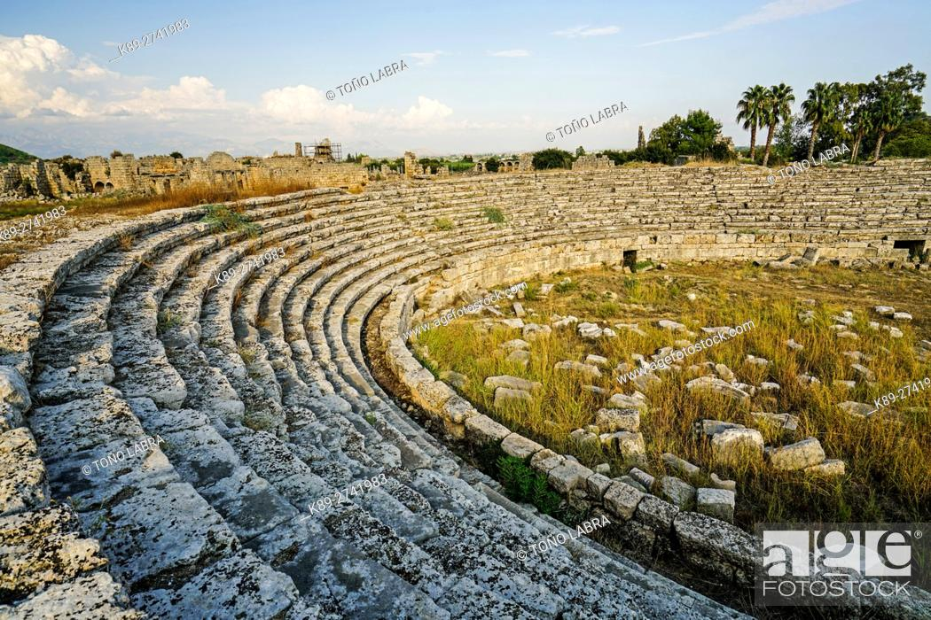 Stock Photo: Perge stadium. Old capital of Pamphylia Secunda. Ancient Greece. Asia Minor. Turkey.