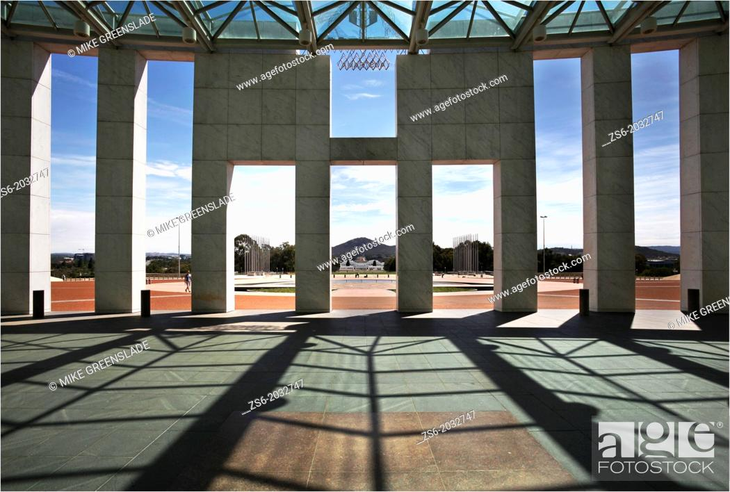 Stock Photo: New Parliament House, Canberra, ACT, Australia.