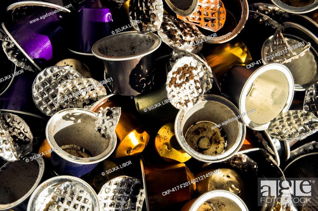 recycling waste aluminium al consumed used empty nespresso