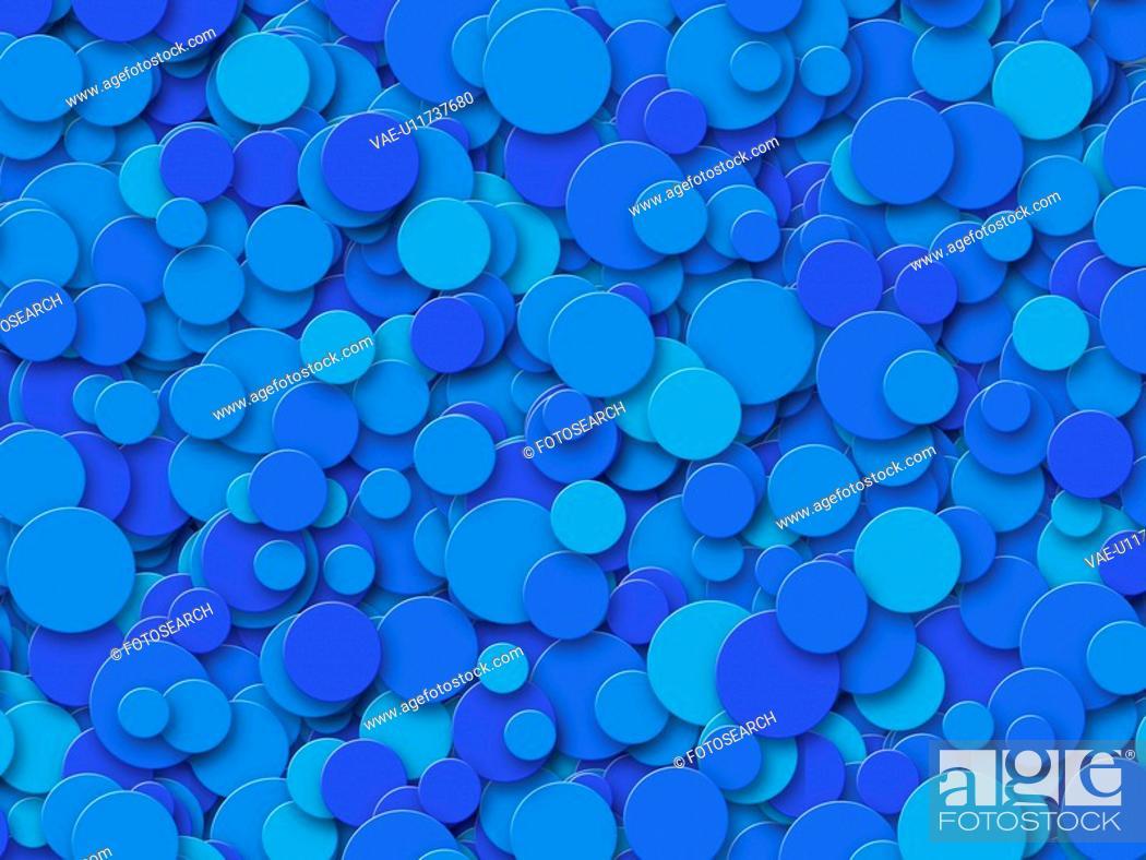 Stock Photo: Blue Circles.