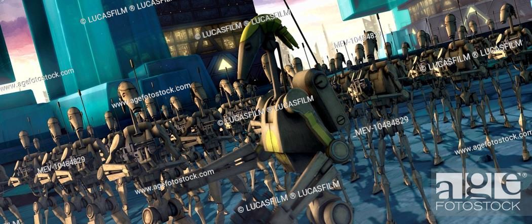 Stock Photo: STAR WARS: THE CLONE WARS The massive droid army prepares for battle.