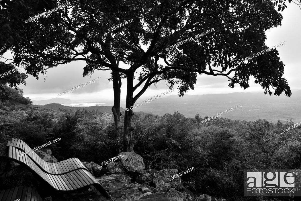 Stock Photo: Myanmar, Mandalay region, Mount Popa Resort.