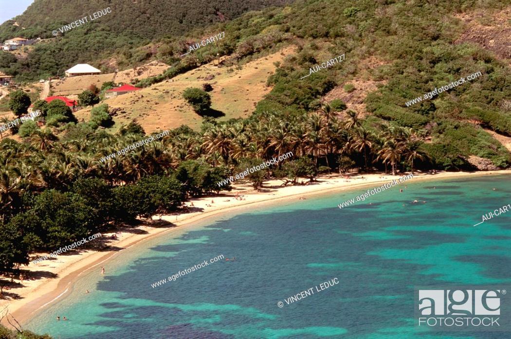 Stock Photo: French Caribbean - Caribbean Islands - Les Saintes - Terre de Haut - Pompierre Beach.