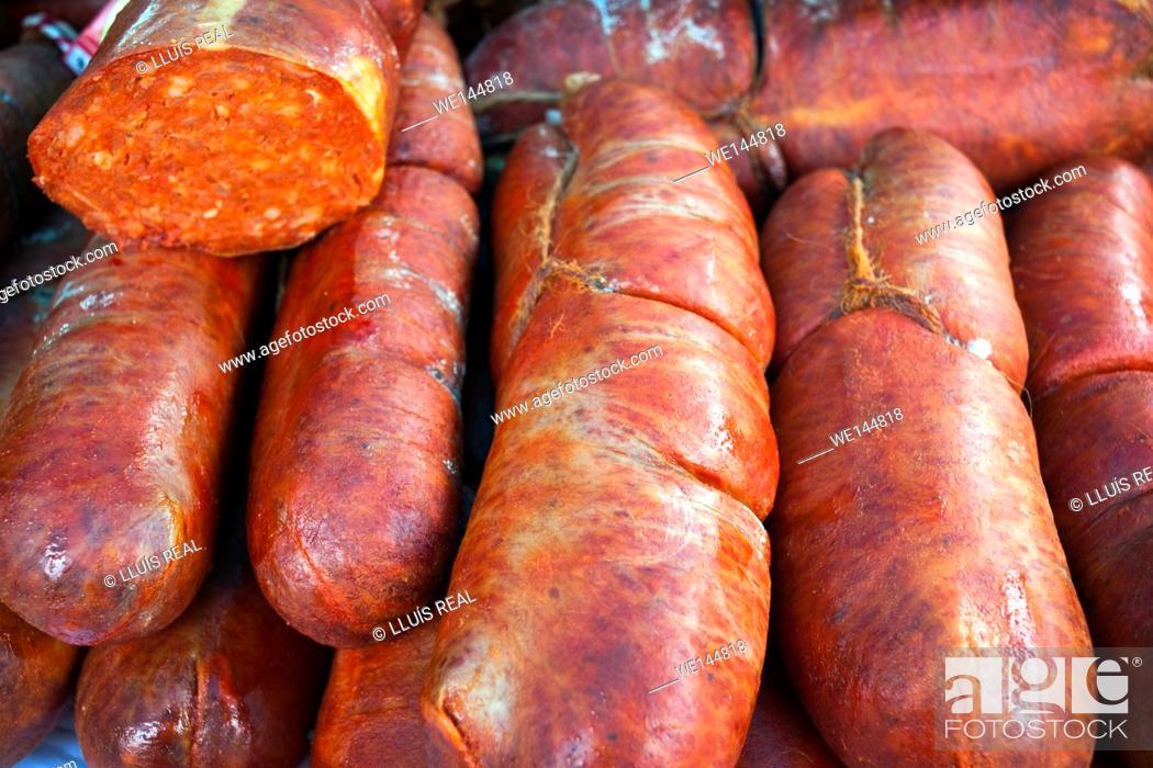 Stock Photo: Embutido, sobrasada, alimento, sausage, food.