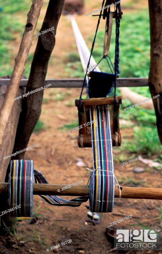 Imagen: Weaving of Fugu in Daboya, a village in the West Gonja district, a district in the Northern Region of north Ghana.
