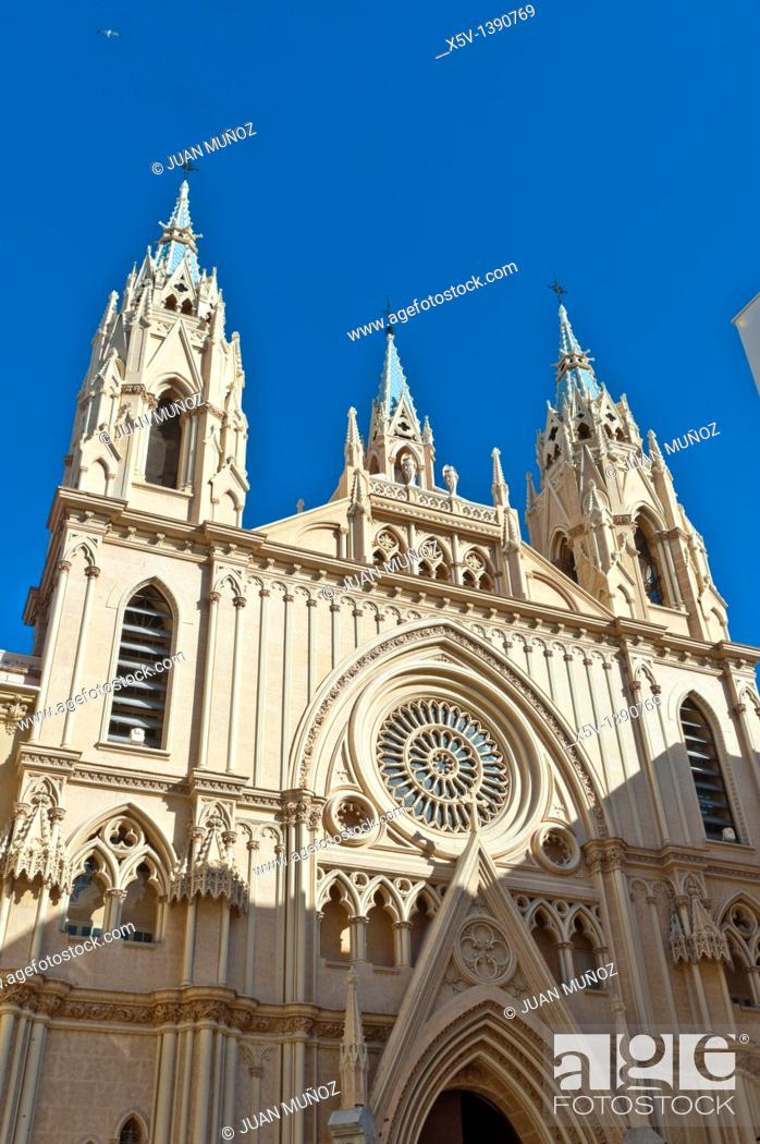 Stock Photo: Church of Sagrado Corazon, Malaga, Andalusia, Spain.