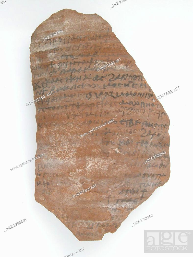 Imagen: Ostrakon with a Letter from Pilatus to Peter, Coptic, 600. Creator: Unknown.