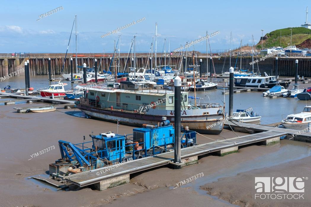 Stock Photo: Low tide in the Port of Watchet, Somerset, United Kingdom.